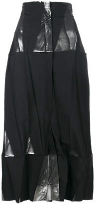 Issey Miyake origami wide leg trousers
