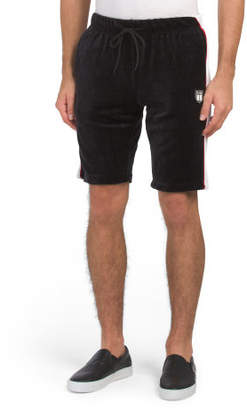 Velour Shorts With Side Piping