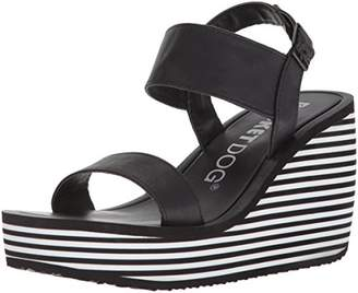 Rocket Dog Women's Tampico Lewis PU W/Striped Eva Wedge Sandal