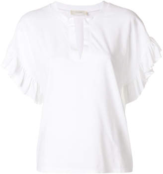 Zanone frill trimmed T-shirt