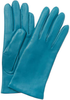 Portolano Women's Blue Leather Gloves