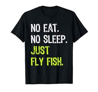 Fly London No Eat No Sleep Just Fish Repeat fishing Gift T-Shirt