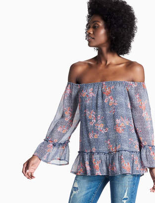 Lucky Brand Off Shoulder Floral Peasant