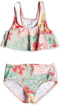 Roxy Toddler Girls 2-Pc. Floral-Print Bikini