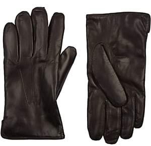 Barneys New York Men's Cashmere-Lined Gloves - Dk. brown