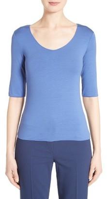 Women's Armani Collezioni Stretch Jersey Top $345 thestylecure.com