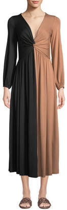 Rachel Pally Two-Tone Twist Long-Sleeve Dress, Plus Size