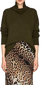 Barneys New York Women's Oversized Cashmere Turtleneck Sweater-Dk. Green