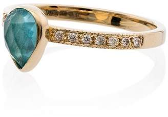 Jacquie Aiche tear drop 14kt gold ring