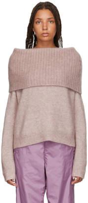 Acne Studios Pink Cowl Neck Sweater