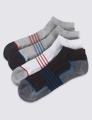 Marks and Spencer 4 Pack Cool & FreshTM Trainer Liner Socks