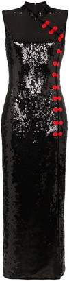 De La Vali Jean sequin embellished maxi dress