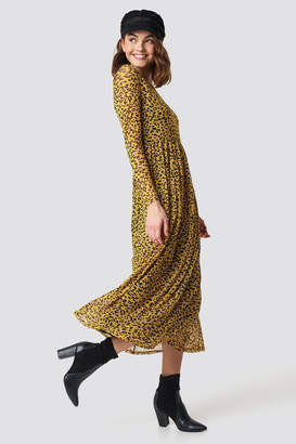 Sisters Point Gia Long Dress Leo/Mustard