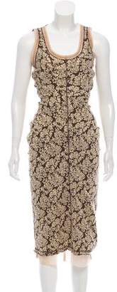Marc Jacobs Gathered Brocade Dress