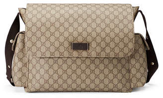 Gucci Guccissima Faux-Leather Diaper Bag w/ Changing Pad