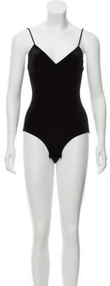 MISA Los Angeles Sleeveless Velvet Bodysuit