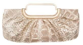 Judith Leiber Metallic Snakeskin Evening Bag
