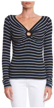 Bailey 44 Bailey/44 Warm And Fuzzy Stripe Sweater Knit Top
