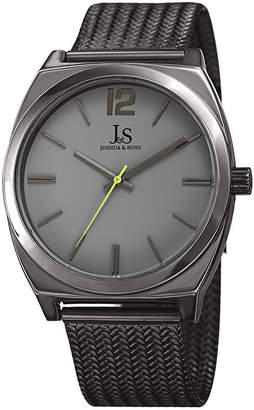 JOSHUA & SONS Joshua & Sons Mens Gray Strap Watch-J-124gnlm