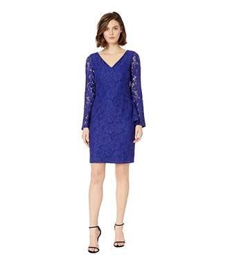 Lauren Ralph Lauren 97G Garden Floral Lace Fresy Long Sleeve Day Dress