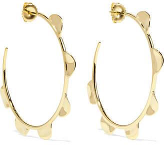 Ippolita Classico Half Wavy 18-karat Gold Hoop Earings