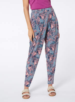 Tu Clothing Multicoloured Palm Tree Print Harem Trousers