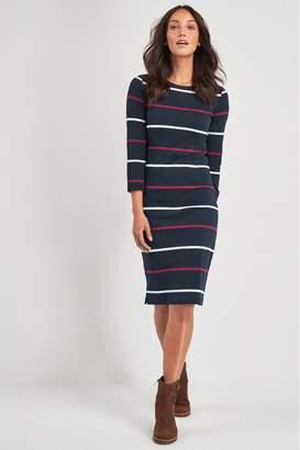 Barbour Womens Coastal Navy Stripe Oyster Dress - Blue