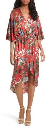 Women's Alice + Olivia Clarine Floral Silk Wrap Dress $440 thestylecure.com