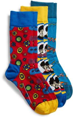 Happy Socks The Beatles - Yellow Submarine 3-Pack Socks Boxed Set