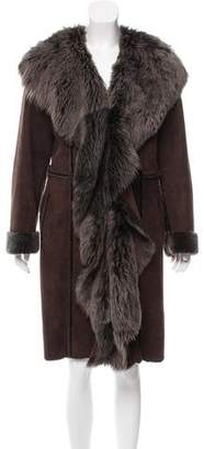Fur Suede Shearling Coat