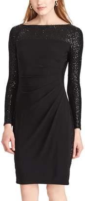 Chaps Women's Sequined Sheath Dress