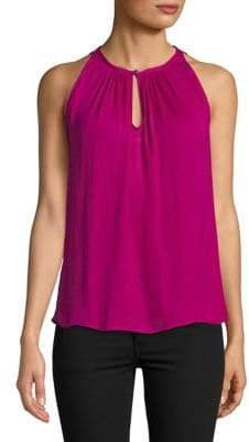 Vince Camuto Sleeveless Rumple Keyhole Top