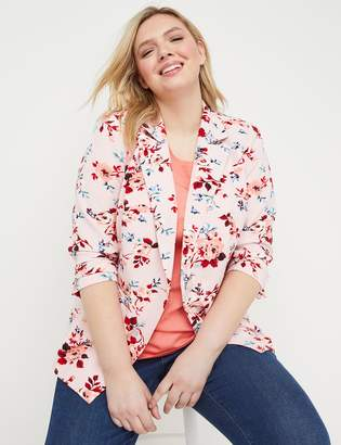 7bfdeab3d1e Lane Bryant Bryant Blazer - Floral Crepe Single Button