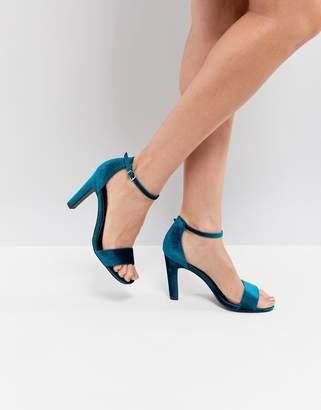 New Look Velvet 2-Part High Heel Sandal