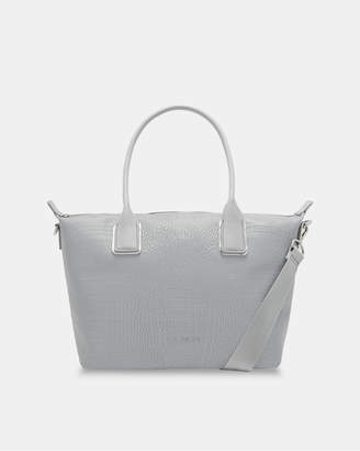 Ted Baker CISCKI Croc embossed small tote bag