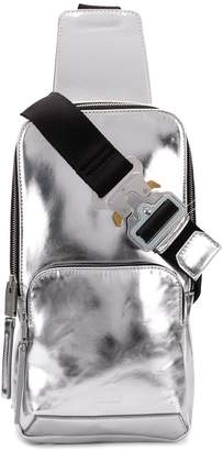 Alyx silver-toned metallic cross body backpack