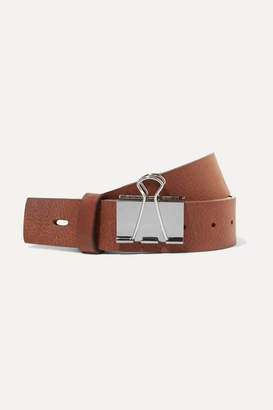 Vetements Textured-leather Belt - Brown