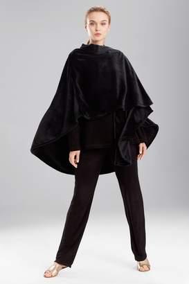 Natori N Solid Cashmere Fleece Poncho