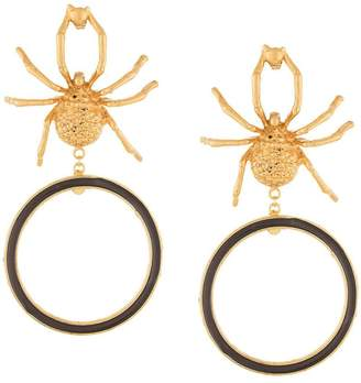 Lako Bukia X Natia Khutsishvili gold plate spider earrings