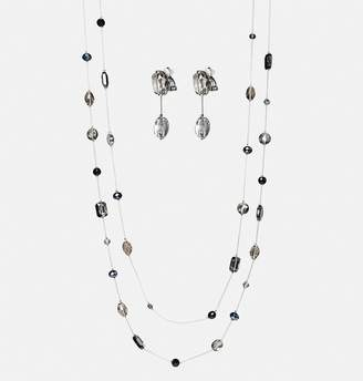 Avenue Faceted Bead Necklace and Earring Set