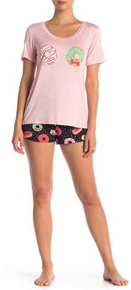 Couture Curvy Donut Shorts Pajama 2-Piece Set