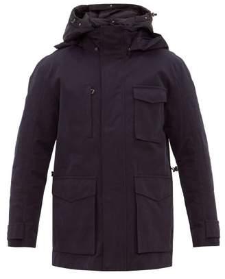49 Winters - Layered Cotton Blend Gabardine Parka - Mens - Navy