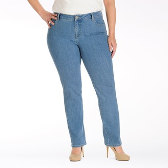 Lee Plus Size Instantly Slims Straight-Leg Jeans