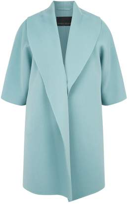 Marina Rinaldi Wool Shawl Lapel Coat