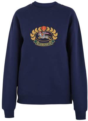 Burberry Blue Embroidered Sweatshirt