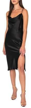 LAMARQUE Bella Cowl-Neck Sleeveless Slip Dress