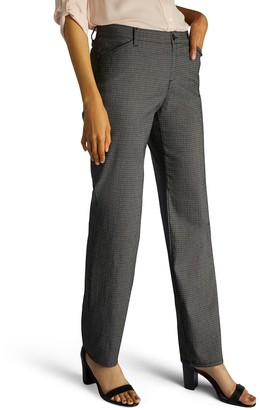Lee Petite Relaxed Fit Straight Leg Twill Mid-Rise Pants