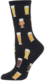 Hot Sox Beer Graphic Crew Socks