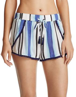 Surf Gypsy Stripe Split Leg Cover-Up Shorts $64 thestylecure.com