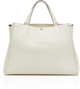 Valextra Brera Large Textured-Leather Tote